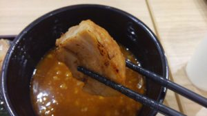 えび豚骨拉麺 春樹 南砂町スナモ店の辛魚介とんこつつけ麺のチャーシュー
