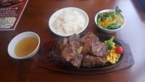 肉の村山 葛西店のテキサスステーキ400gのセット