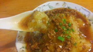 四川家庭料理 珍々のじゃがとろ 箸上げ1