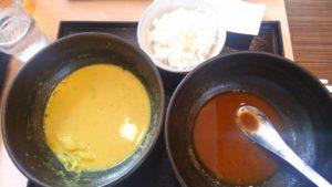 カレーうどん 千吉の千吉カレーうどんと黒カレーうどんを完食