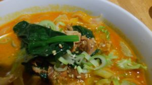 圓園の麻辣麺の具材