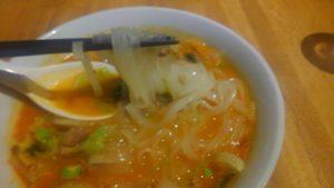圓園の麻辣麺の米麺