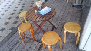 やしま 西葛西店のテーブル席