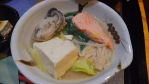 Irori さ藤の石狩鍋定食1