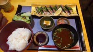 Irori さ藤のカツオのたたき定食1