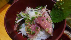 Irori さ藤のカツオのたたき定食のカツオのたたき丼