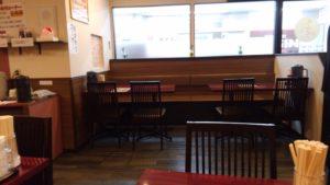 ごはん屋 七ふくの大きなテーブル席