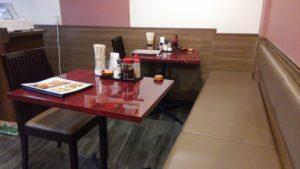 ごはん屋 七ふくのテーブル席2