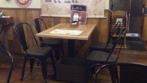 Beaf LABO 西葛西店のテーブル席