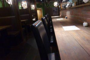 山芋の多い料理店の座席の様子2