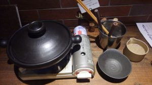 山芋の多い料理店のとろろ鍋セット