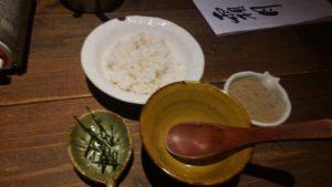山芋の多い料理店の雑炊セットを追加注文